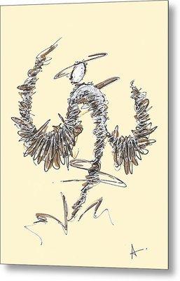Scribble Angel 2 Metal Print