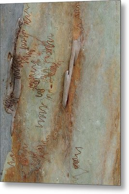 Scribbled Abstract Metal Print