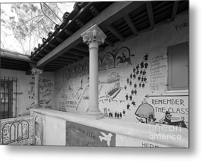 Scripps College Graffiti Wall Metal Print by University Icons