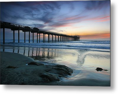 Scripps Pier Evening Metal Print