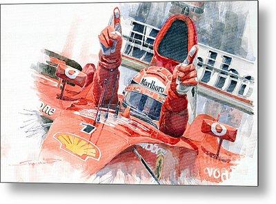 2001 Scuderia Ferrari Marlboro F 2001 Ferrari 050 M Schumacher  Metal Print by Yuriy  Shevchuk