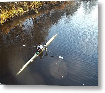 Sculling The Firth II Metal Print