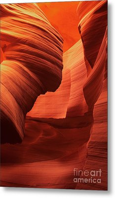 Metal Print featuring the photograph Sculpted Sandstone Upper Antelope Slot Canyon Arizona by Dave Welling