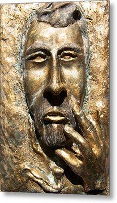 Sculpting  Van Gogh Metal Print by Azul Fam