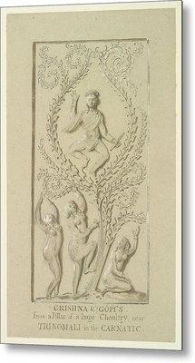 Sculpture Of Krishna Metal Print by British Library