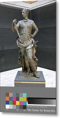 Sculpture, William IIi Inscribed On Rear Of Statue Metal Print by Litz Collection