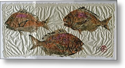Scup On Rice Paper Metal Print