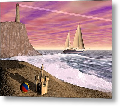 Sea And Sand Metal Print