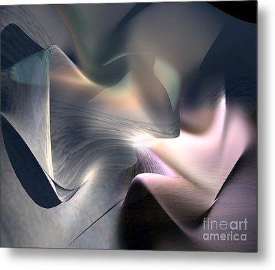 Sea And Shell Metal Print by Christian Simonian