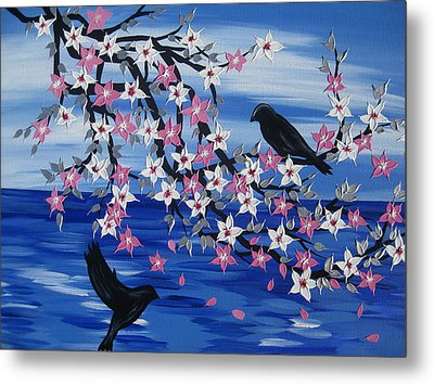 Sea Blossoms Metal Print by Cathy Jacobs