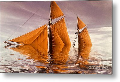 Sea Boat Collections - Naufrage  C02 Metal Print by Variance Collections