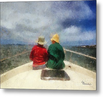 Sea Breeze 4 On The Bay Metal Print by Linda Weinstock