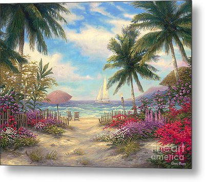 Sea Breeze Path Metal Print by Chuck Pinson