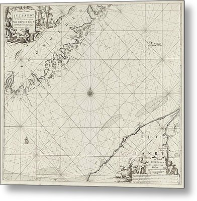Sea Chart Of Part Of The Coast Of Norway And Jutland Metal Print