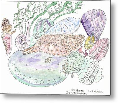 Sea Cluster Metal Print by Helen Holden-Gladsky