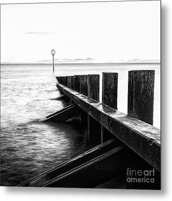 Sea Defences Portobello Metal Print by John Farnan