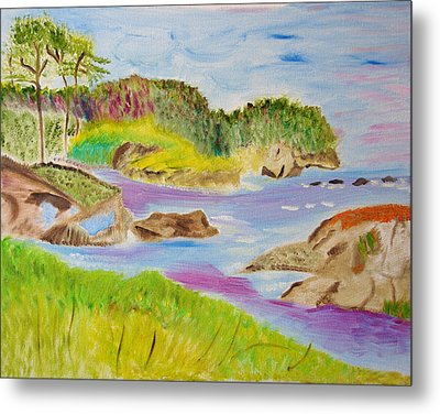 Metal Print featuring the painting Sea Escape by Meryl Goudey