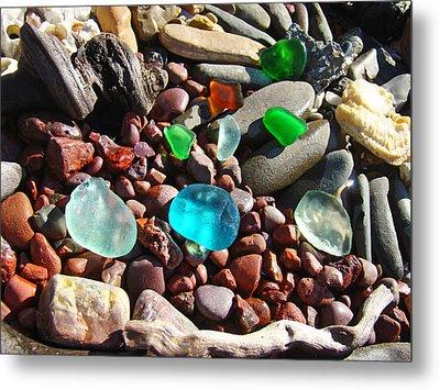 Sea Glass Art Prints Beach Seaglass Metal Print by Baslee Troutman