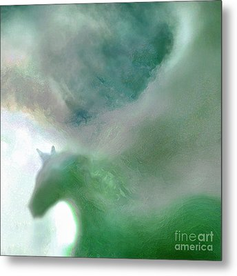 Sea Glass Storm Metal Print