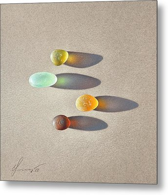 Sea Glass - The Race Metal Print