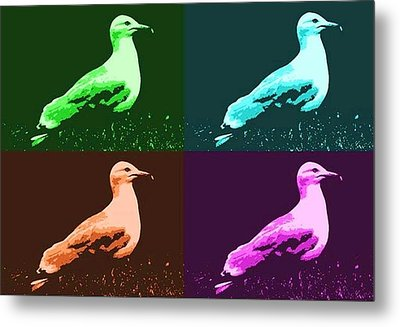Metal Print featuring the photograph Sea Gulls 4  by Al Fritz
