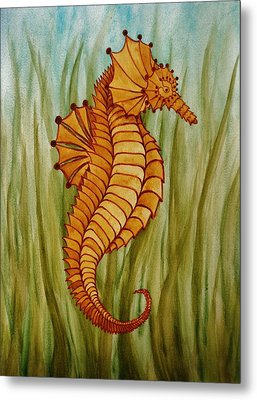 Sea Horse Metal Print by Katherine Young-Beck