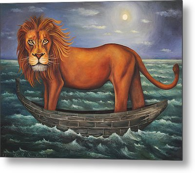 Sea Lion Softer Image Metal Print