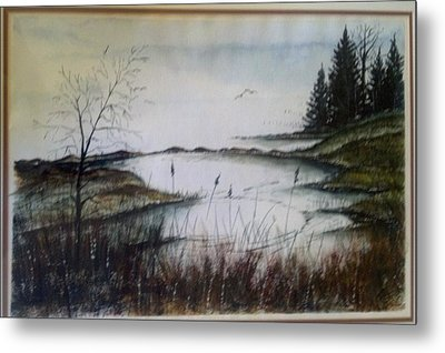 Sea Marsh Sold Metal Print by Richard Benson