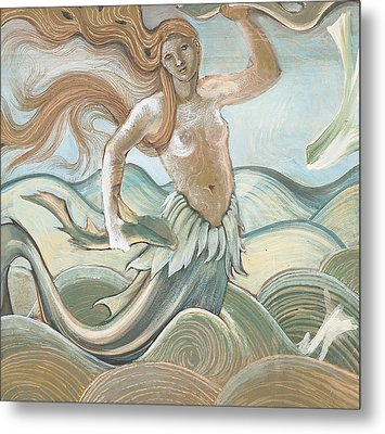 Sea Nymph Metal Print by Sir Edward Coley Burne-Jones