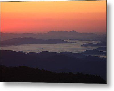 Sea Of Clouds-blue Ridge Mountains Nc Metal Print by Mountains to the Sea Photo