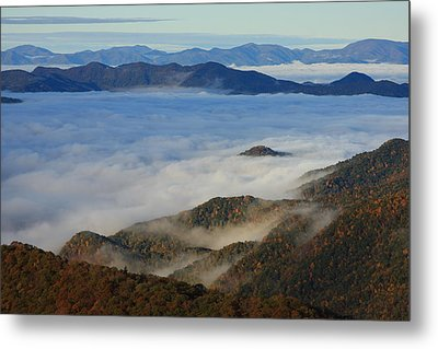 Sea Of Clouds In The Courthouse Valley-blue Ridge Parkway Metal Print