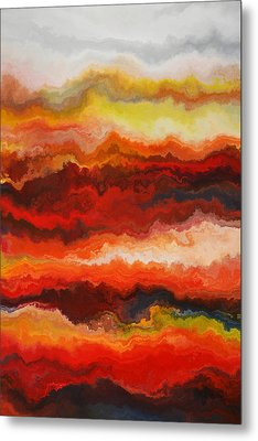 Sea Of Fire  Metal Print by Andrada Anghel
