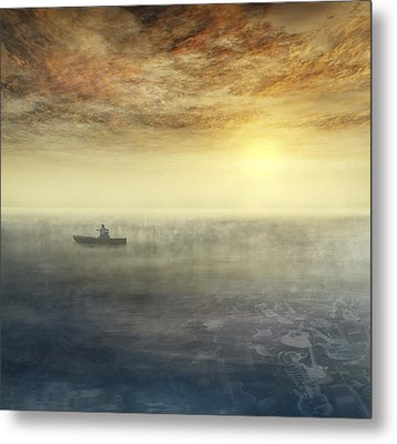 Sea Of Music Metal Print by Akos Kozari