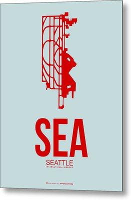 Sea Seattle Airport Poster 1 Metal Print