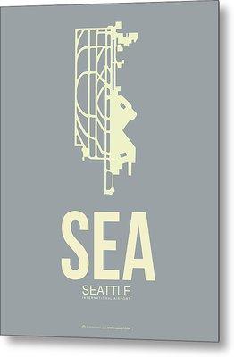 Sea Seattle Airport Poster 3 Metal Print