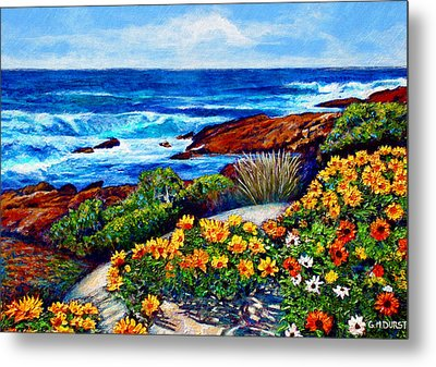 Sea Side Spring Metal Print