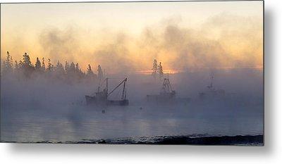 Sea Smoke Down East Maine  Metal Print by Trace Kittrell