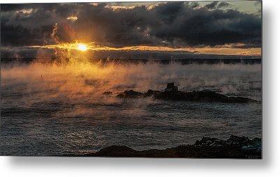 Sea Smoke Sunrise Metal Print