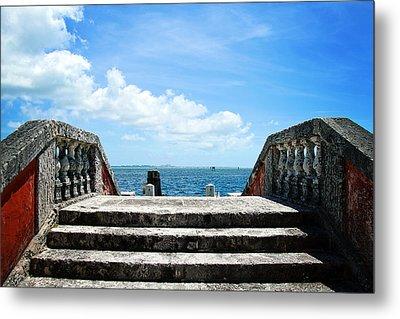 Sea Stairs Metal Print