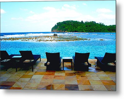 Sea Star Villa Metal Print by Carey Chen