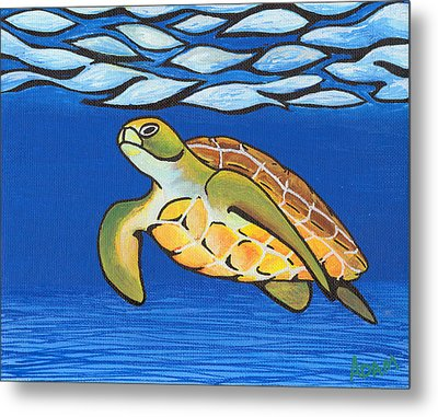Sea Turtle Metal Print by Adam Johnson