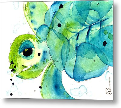 Sea Turtle Metal Print by Dawn Derman