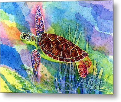 Sea Turtle Metal Print by Hailey E Herrera