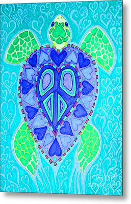 Sea Turtle Swim Metal Print