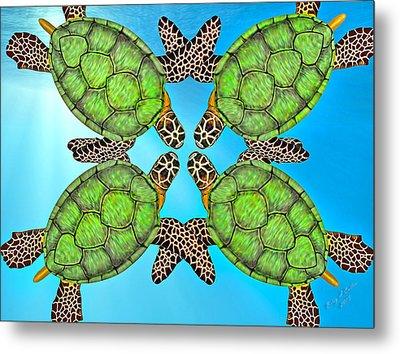 Sea Turtles Metal Print by Betsy Knapp