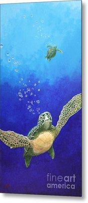 Sea Turtles Metal Print by Fred-Christian Freer