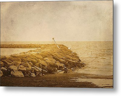 Sea Wall Providence Cape Cod Ma Metal Print by Suzanne Powers