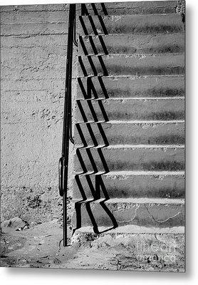 Sea Wall Steps Metal Print