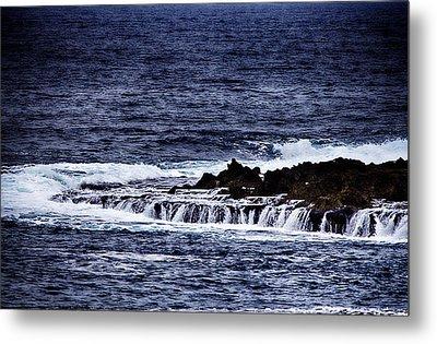 Sea Waterfall Metal Print by Douglas Barnard