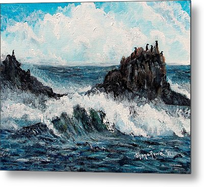 Metal Print featuring the painting Sea Whisper by Shana Rowe Jackson